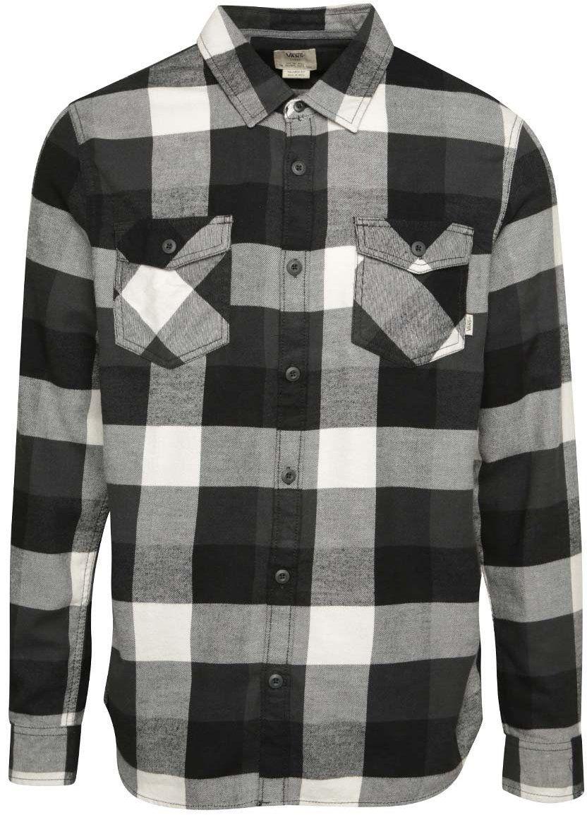 c92e10f31b5a Čierno-sivá pánska kockovaná košeľa Vans Box značky Vans - Lovely.sk