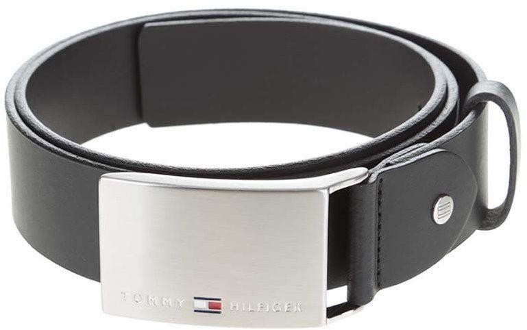 Čierny pánsky kožený opasok s nerezovou sponou Tommy Hilfiger značky ... 1b949dba3e1