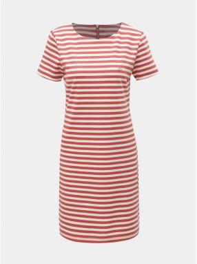 2914f246eb4d2 Bielo–červené pruhované šaty Cross Jeans