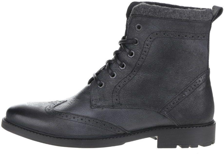 1154ae3b7 Čierne kožené členkové brogue topánky Burton Menswear London Penley značky Burton  Menswear London - Lovely.sk