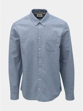3f78019811cf Modrá melírovaná košeľa s vreckom Blend