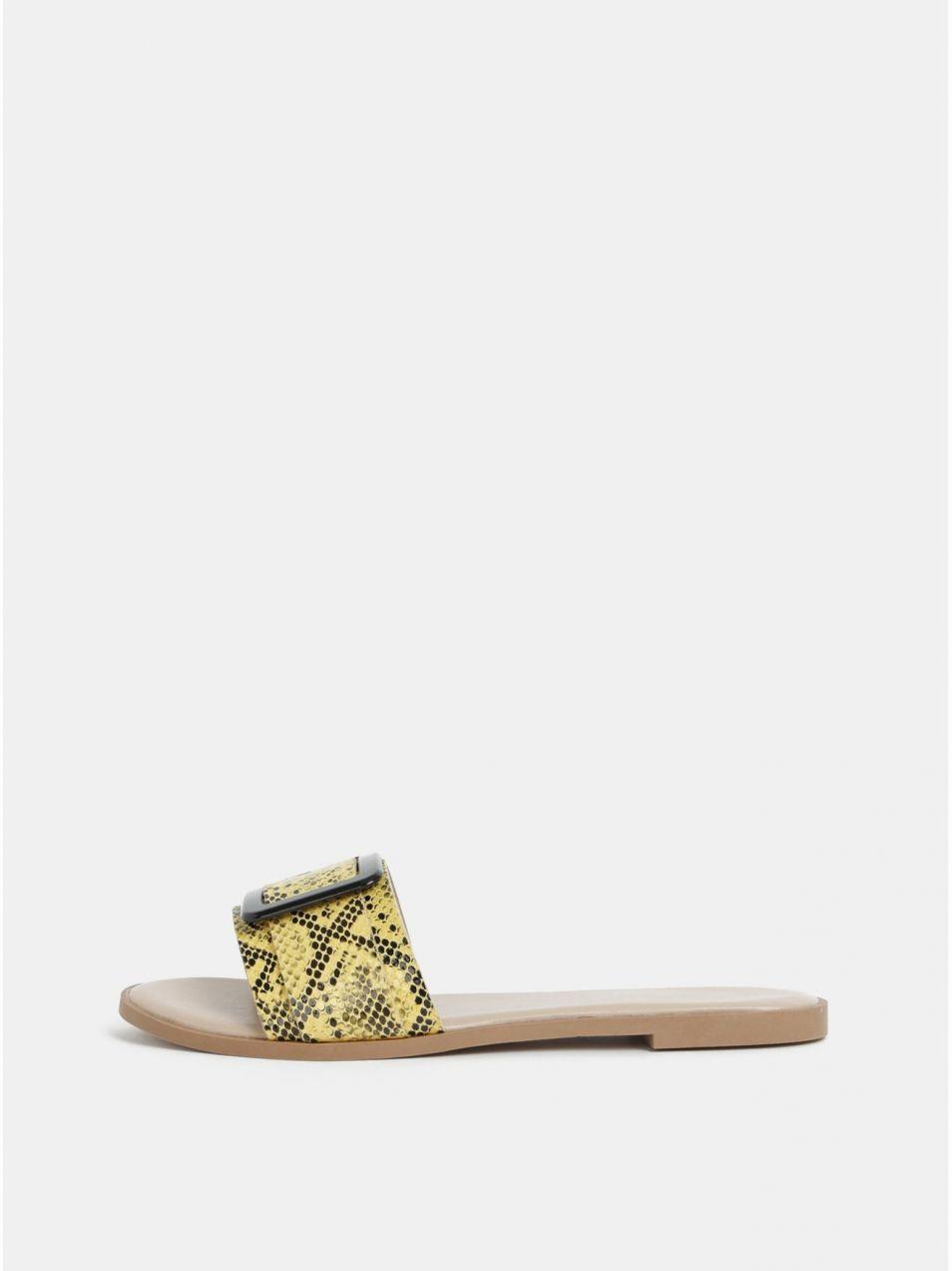 cbe0739fb6bc Žlté šľapky s hadím vzorom Dorothy Perkins značky Dorothy Perkins ...