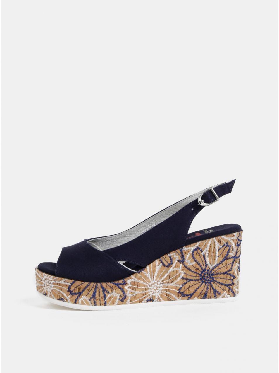 e4b75df84e86 Tmavomodré sandále na platforme U.S. Polo Assn. značky U.S. Polo ...