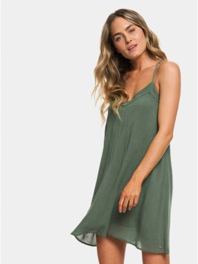 335ae5eb9539 Zelené šaty Roxy Off We Go