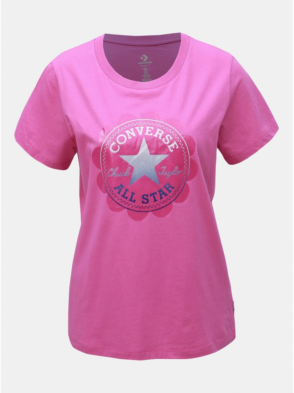 1340b4525d52 Ružové dámske tričko s potlačou Converse značky Converse - Lovely.sk
