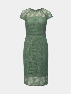 0f0a74e83a66 Zelené čipkované puzdrové šaty Dorothy Perkins