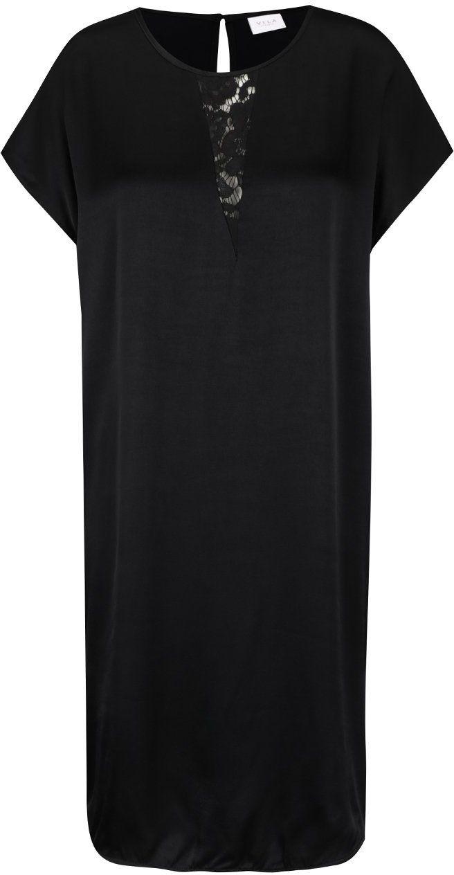 Čierne šaty s čipkou v dekolte VILA Klika značky VILA - Lovely.sk ca044076d1c