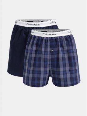 1770a47601 Balenie dvoch pánskych modrých slim fit trenírok Calvin Klein Underwear