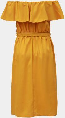 f98e6533453d Horčicové šaty s odhalenými ramenami Dorothy Perkins značky Dorothy ...