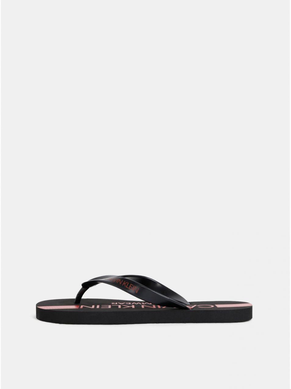 04d8a84c9aa37 Čierne pánske žabky s potlačou Calvin Klein Underwear značky Calvin ...