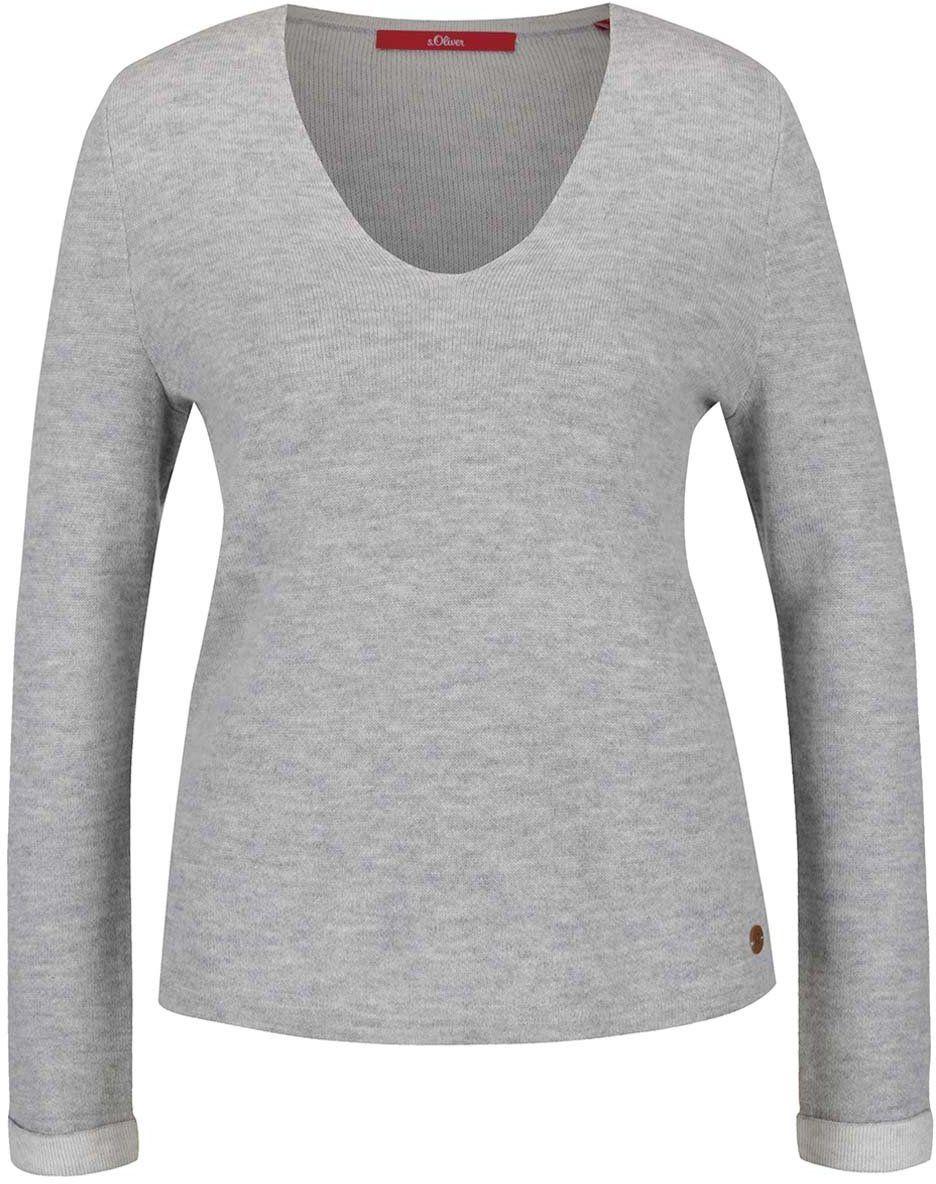 c4b9228543a2 Sivý dámsky sveter s.Oliver značky s.Oliver - Lovely.sk