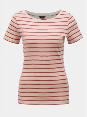 019b56d74628 Béžové pruhované tričko M Co