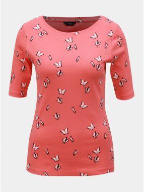 48b0052deb38 Koralové vzorované tričko M Co