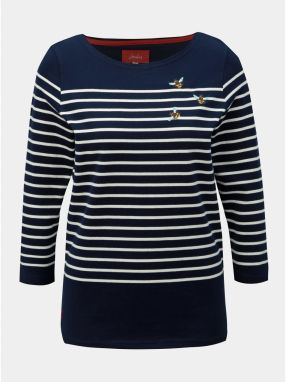 1e65b9b95c46 Tmavomodré pruhované tričko Tom Joule Harbour