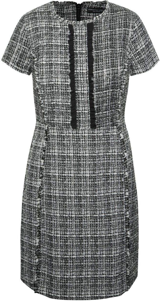 f11126595484 Bielo-čierne vzorované šaty s volánmi Dorothy Perkins značky Dorothy Perkins  - Lovely.sk