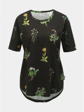 752cd23bfc54 Čierne dámske kvetované tričko Maloja Pranzaira