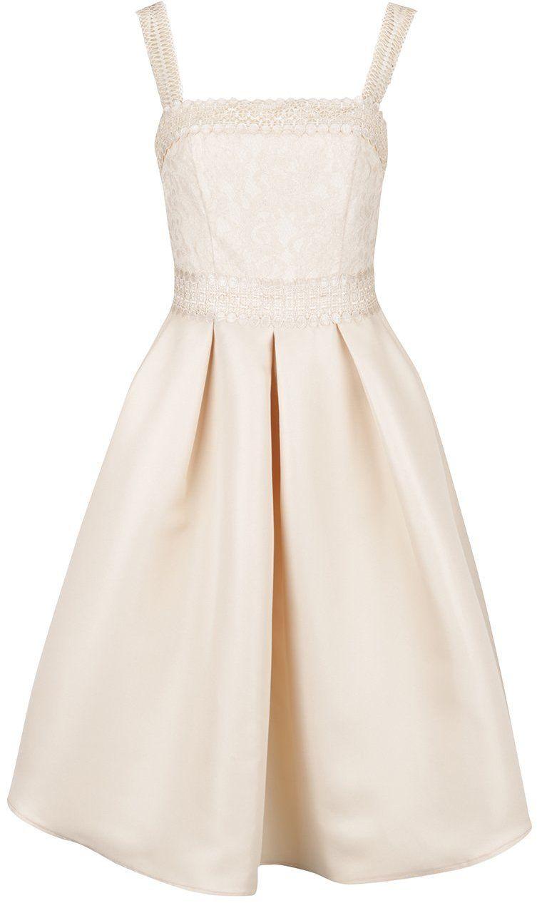 Béžové šaty s čipkovaným živôtikom Little Mistress značky Little Mistress -  Lovely.sk 186c4615b87