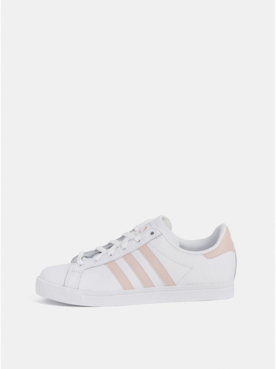 e374d948875dd Biele dámske kožené tenisky adidas Originals Coast Star značky ...