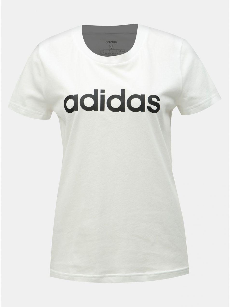 7bf8c939ac68 Biele dámske slim fit tričko s potlačou adidas CORE značky adidas ...