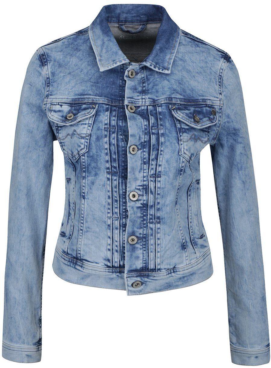 Svetlomodrá dámska rifľová bunda Pepe Jeans Mikas značky Pepe Jeans -  Lovely.sk 14e608ff7b