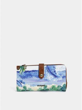 955c2a5916 Modrá vzorovaná veľká peňaženka Desigual Landscape Ocean