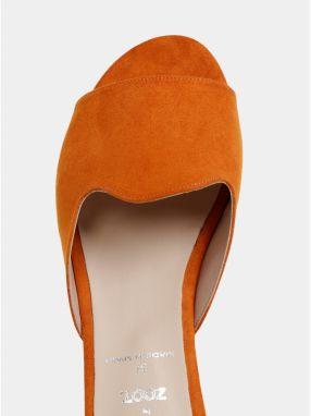 4cb89da07f8d Oranžové šľapky v semišovej úprave OJJU Mariella značky OJJU - Lovely.sk