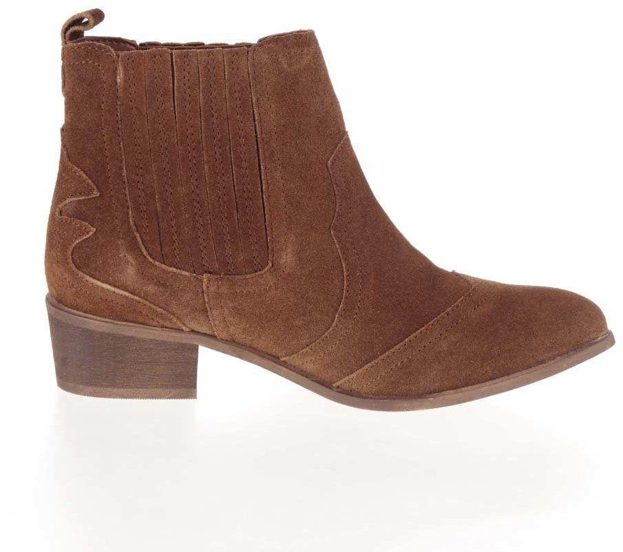 Hnedé členkové semišové chelsea topánky Dorothy Perkins značky Dorothy  Perkins - Lovely.sk bd55218c404