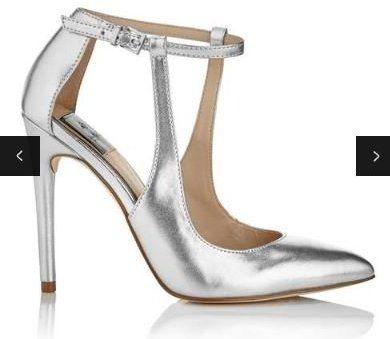 Metalické sandále v striebornej farbe na podpätku Miss Selfridge Lilly  značky Miss Selfridge - Lovely.sk b0b26206a7b