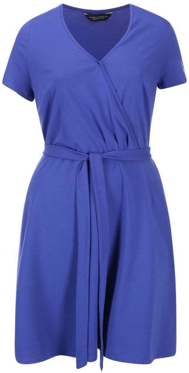 311b17eeca25 Modré prekladané šaty Dorothy Perkins Curve značky Dorothy Perkins Curve -  Lovely.sk