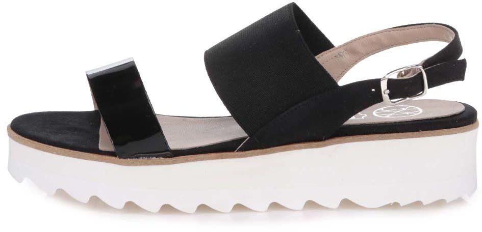 b7b752b8e4ac Čierne sandále na platforme OJJU značky OJJU - Lovely.sk