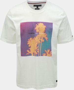 4365f3f743 Tommy Hilfiger biele pánske tričko CN SS Tee Logo značky Tommy ...