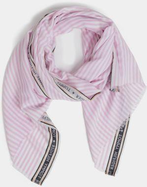 7f77d9ca0c51 Sivo-ružový dámsky šál s prímesou vlny Tommy Hilfiger Blanket značky ...