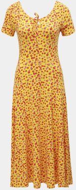 c2de5a544c94 Žlté kvetované midišaty Dorothy Perkins