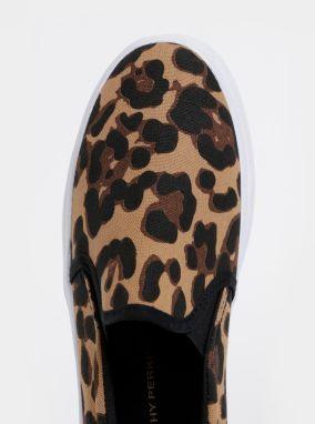 1e0f836716f4 Hnedé slip on s leopardím vzorom Dorothy Perkins značky Dorothy ...