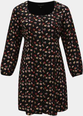 7ec53dfc1da7 Čierne kvetované šaty Dorothy Perkins Curve