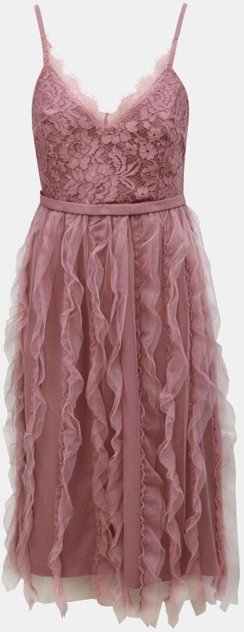 01f4403ac2fb Staroružové šaty na ramienka s čipkou Little Mistress značky Little ...