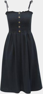46ea0be5eded Modré bodkované šaty s krátkym rukávom Dolly   Dotty Claudia značky ...