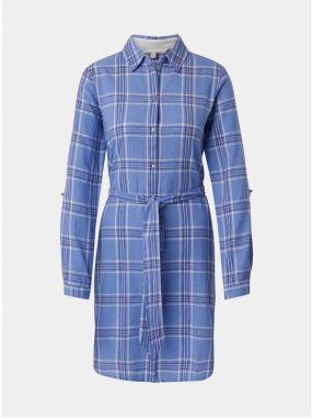 68e7dac6cf4e Svetlomodré kockované košeľové šaty Bohemian Tailors Edita značky ...