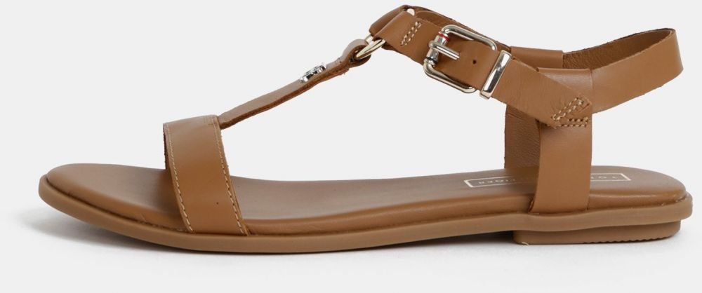 5f9e0e7a1f Hnedé dámske kožené sandálky Tommy Hilfiger značky Tommy Hilfiger ...