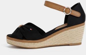 6879f035d6 Čierne sandálky na plnom podpätku Tommy Hilfiger
