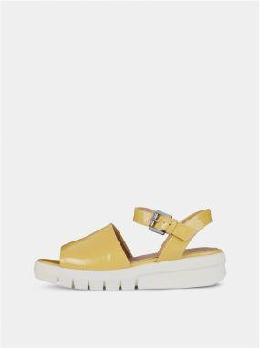 2742847fc6 Žlté dámske sandále na platforme Geox Wimbley