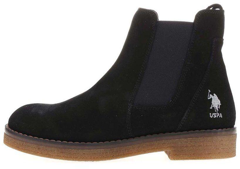 b6f6aa6805 Čierne dámske kožené topánky U.S. Polo Assn. Margot značky U.S. Polo Assn.  - Lovely.sk