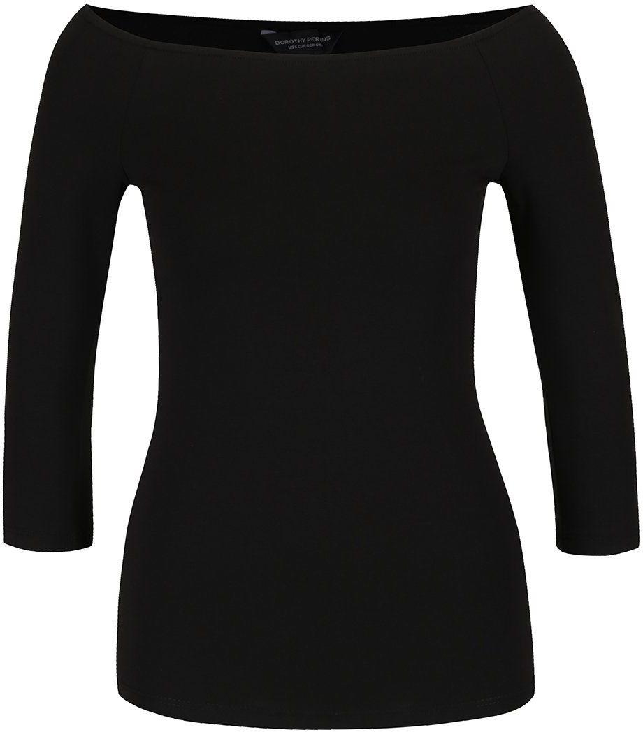 6e7e143e7352 Čierne tričko s lodičkovým výstrihom Dorothy Perkins značky Dorothy Perkins  - Lovely.sk