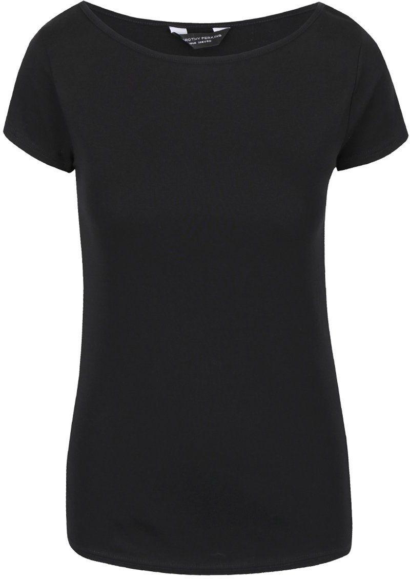 e215d8ccb94a Čierne tričko s lodičkovým výstrihom Dorothy Perkins značky Dorothy Perkins  - Lovely.sk