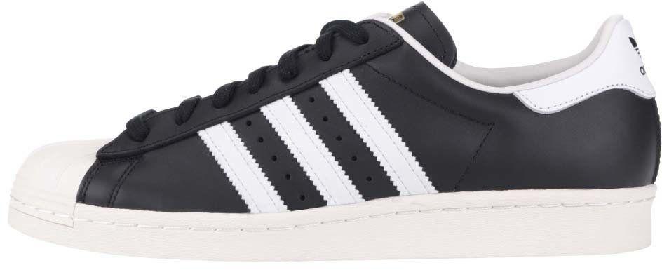 Bielo-čierne pánske kožené tenisky adidas Originals Superstar 80s značky adidas  Originals - Lovely.sk b32e0922df7