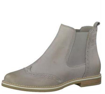 b9ae01ecec39 Svetlosivé kožené chelsea topánky s brogue detailmi Tamaris značky Tamaris  - Lovely.sk