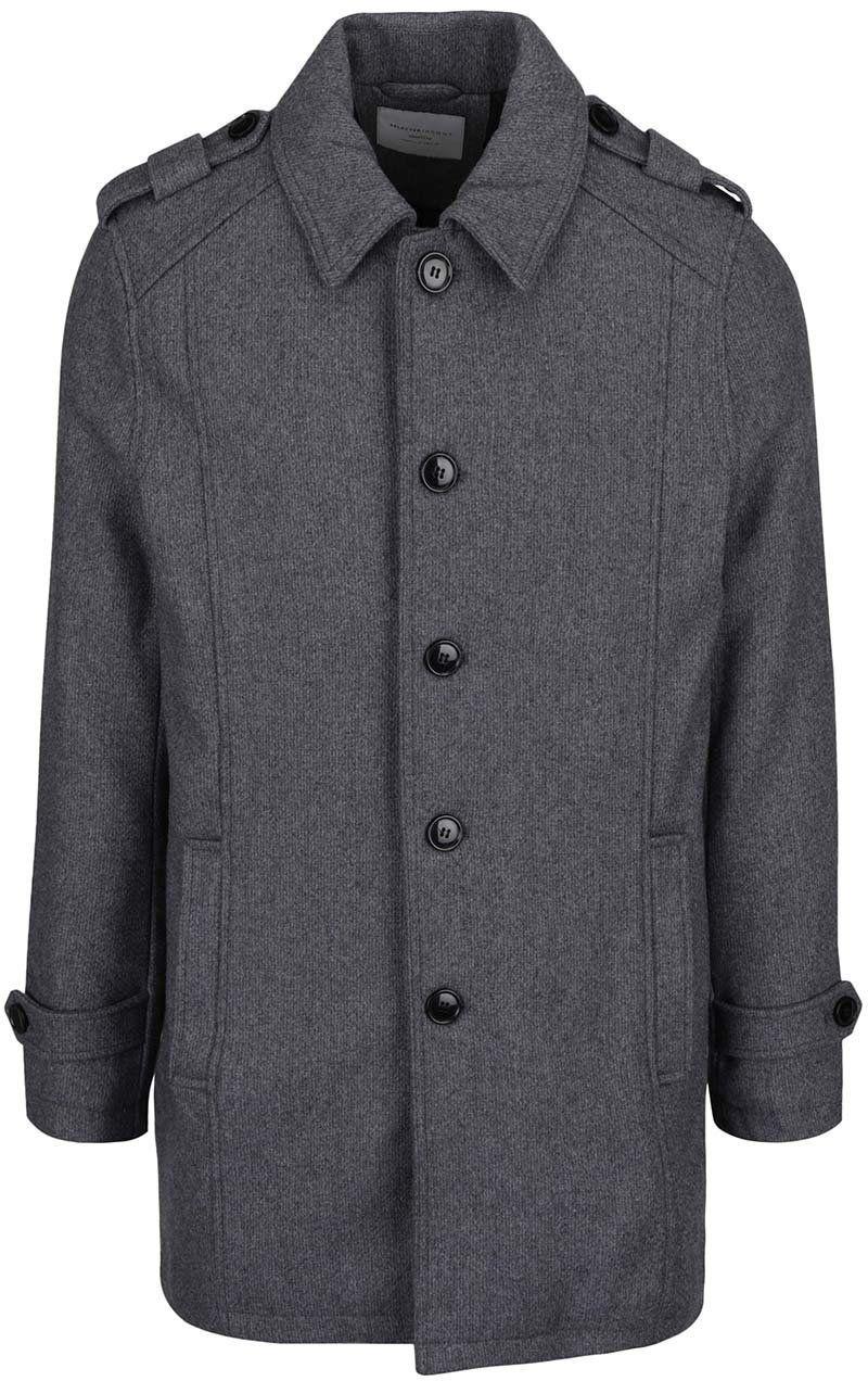 Tmavosivý kabát s prímesou vlny Selected Homme Geneve značky Selected Homme  - Lovely.sk c97a3d7eb67
