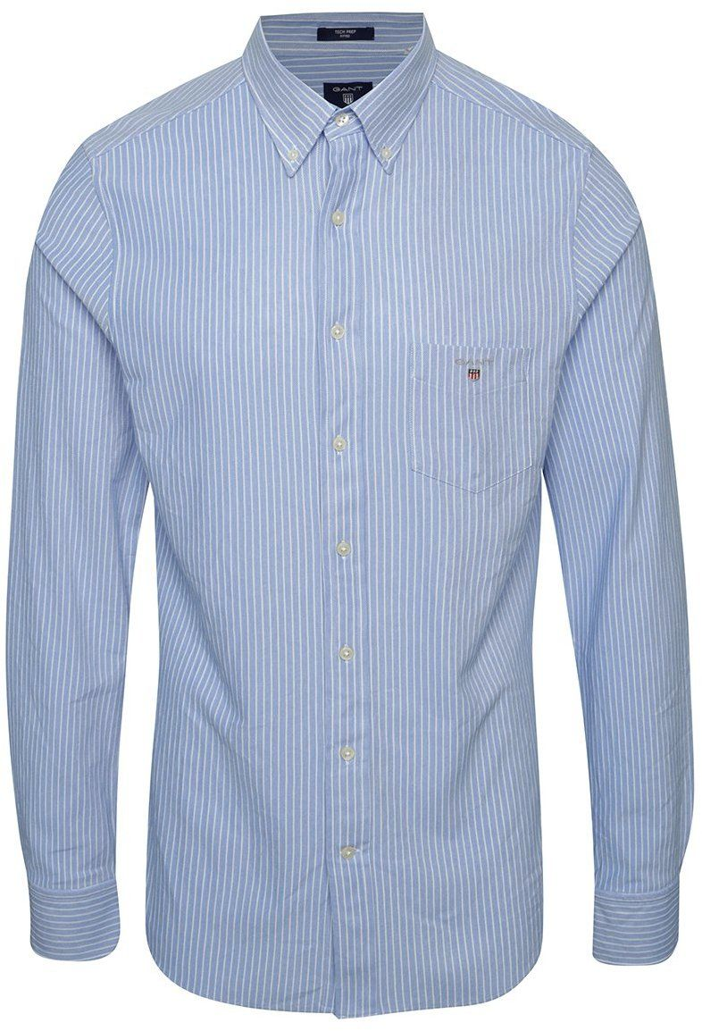 a421d0569c5b Krémovo-modrá pánska pruhovaná košeľa GANT Pique značky Gant - Lovely.sk