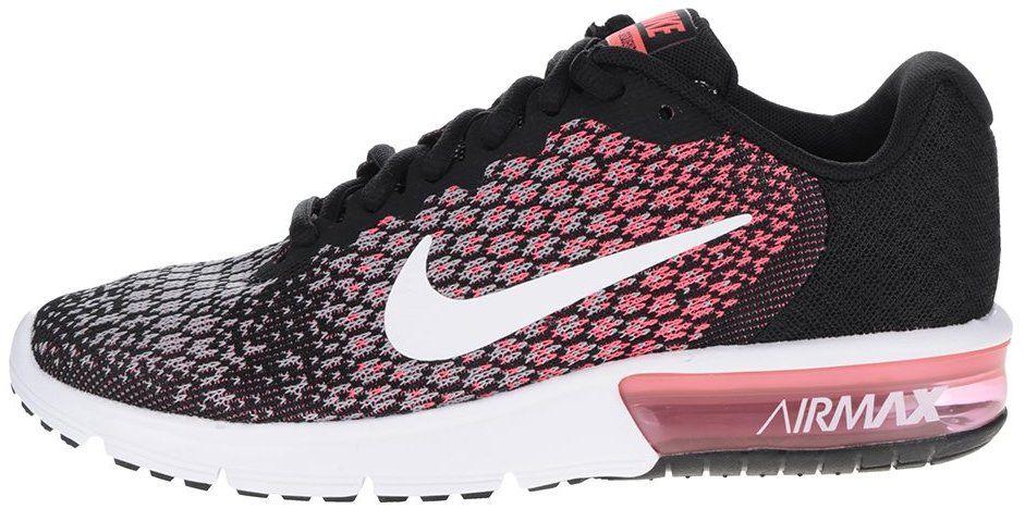 Ružovo-čierne dámske vzorované tenisky Nike Air Max Sequent značky Nike -  Lovely.sk 2a531acdfd1