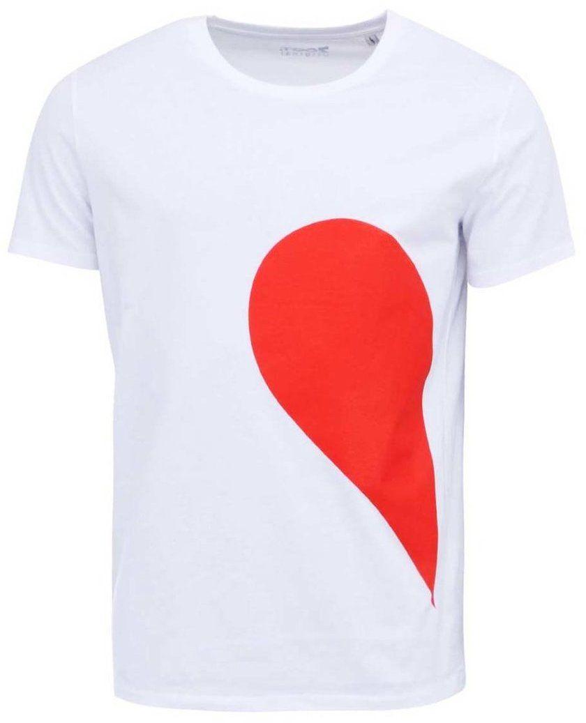af99bf35cc537 Biele pánske tričko ZOOT Originál Jeho strana srdca značky ZOOT Originál -  Lovely.sk